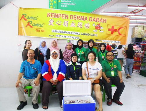 blood donation campaign at Ramai Ramai iPeak